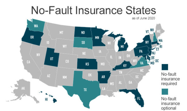 no-fault-insurance-states-map-june-2020